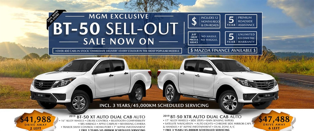 Mazda BT-50 Sell-Out Sale